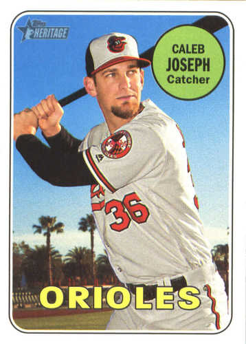 Photo of 2018 Topps Heritage #223 Caleb Joseph