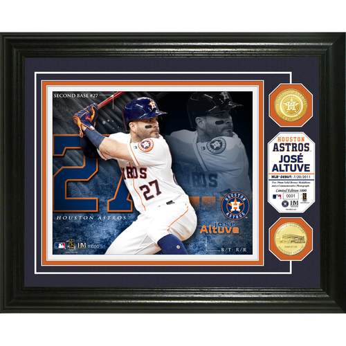 Photo of Serial #1! Jose Altuve Bronze Coin Photo Mint