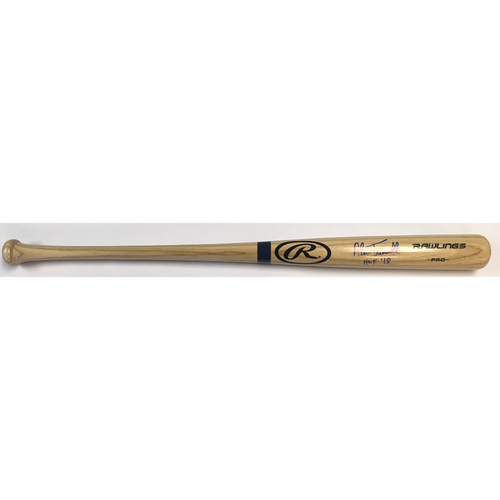 "Photo of Alan Trammell ""HOF 18"" Autographed Rawlings Bat"