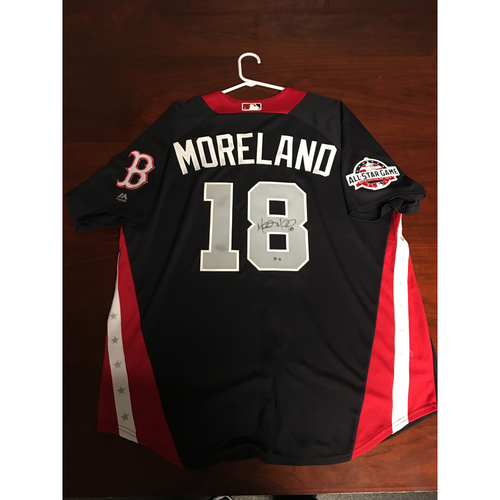Photo of Mitch Moreland 2018 Major League Baseball Workout Day Autographed Jersey