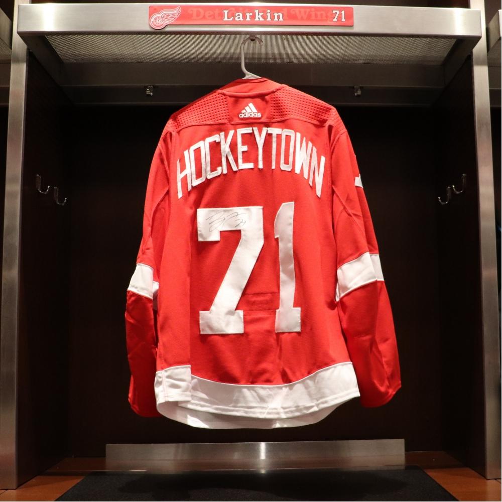 Dylan Larkin (#71)- Red Wings 2018 Home Opener Hockeytown Warm-Up Jersey