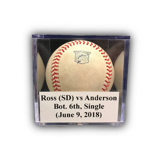 Photo of Game-Used Baseball: Ross (SD) vs Anderson, Bot. 6th, Single (June 9, 2018)