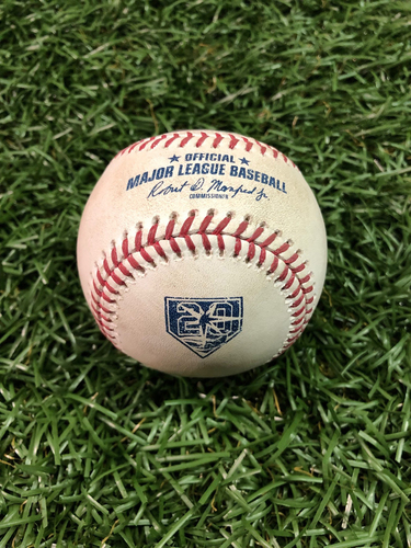 Photo of 20th Anniversary Game Used Baseball: Tyler Glasnow strikes out Yangervis Solarte - September 28, 2018 v TOR