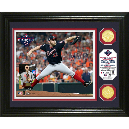 Photo of Washington Nationals Stephen Strasburg 2019 World Series MVP Bronze Coin Photo Mint