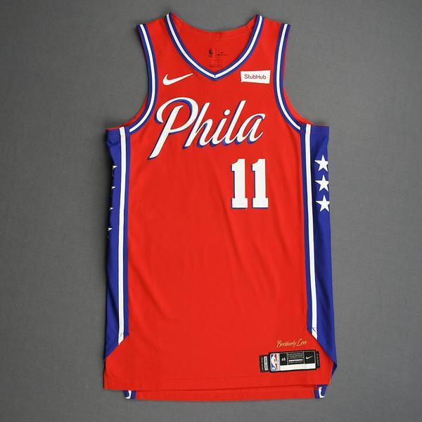 Image of James Ennis III - Philadelphia 76ers - Game-Worn Statement Edition Jersey - 2019-20 Season