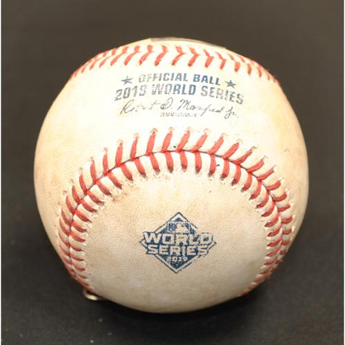 Photo of Game-Used Baseball - 2019 World Series - Washington Nationals vs. Houston Astros - Batter - Adam Eaton, Pitcher - Brad Peacock - Bottom 8 - Groundout to 3rd - Game 4 - 10/26/2019