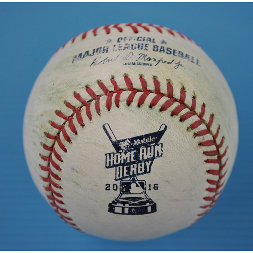 Photo of Game-Used Baseball - 2016 Home Run Derby - Giancarlo Stanton - Semi Finals - Out
