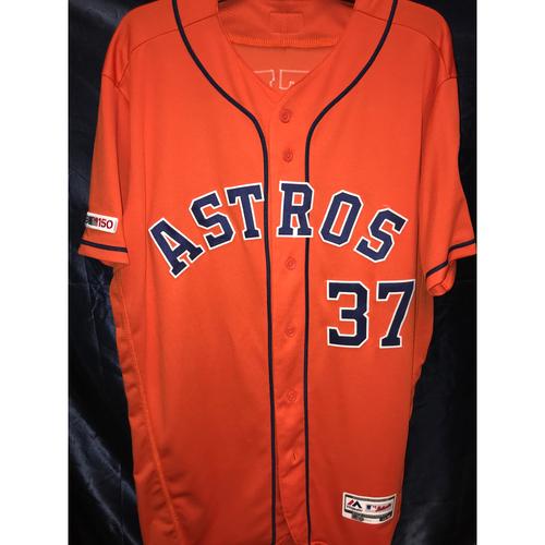 Photo of Alex Cintron 2019 Game-Used Orange Alternate Jersey (Size 46)
