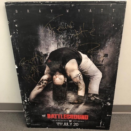 Bray Wyatt SIGNED Battleground PPV Poster (2014)