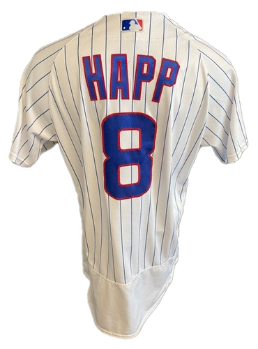 Photo of Ian Happ Team-Issued Jersey -- Mother's Day 2021 -- Pirates vs. Cubs -- 5/9/21 -- Size 44T