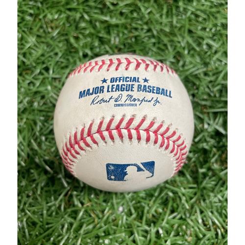 Photo of Game Used Baseball: Wander Franco, Brandon Lowe and Alex Cobb - Bottom 3 - June 26, 2021 v LAA
