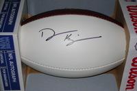 NFL - BROWNS DESHONE KIZER SIGNED PANEL BALL