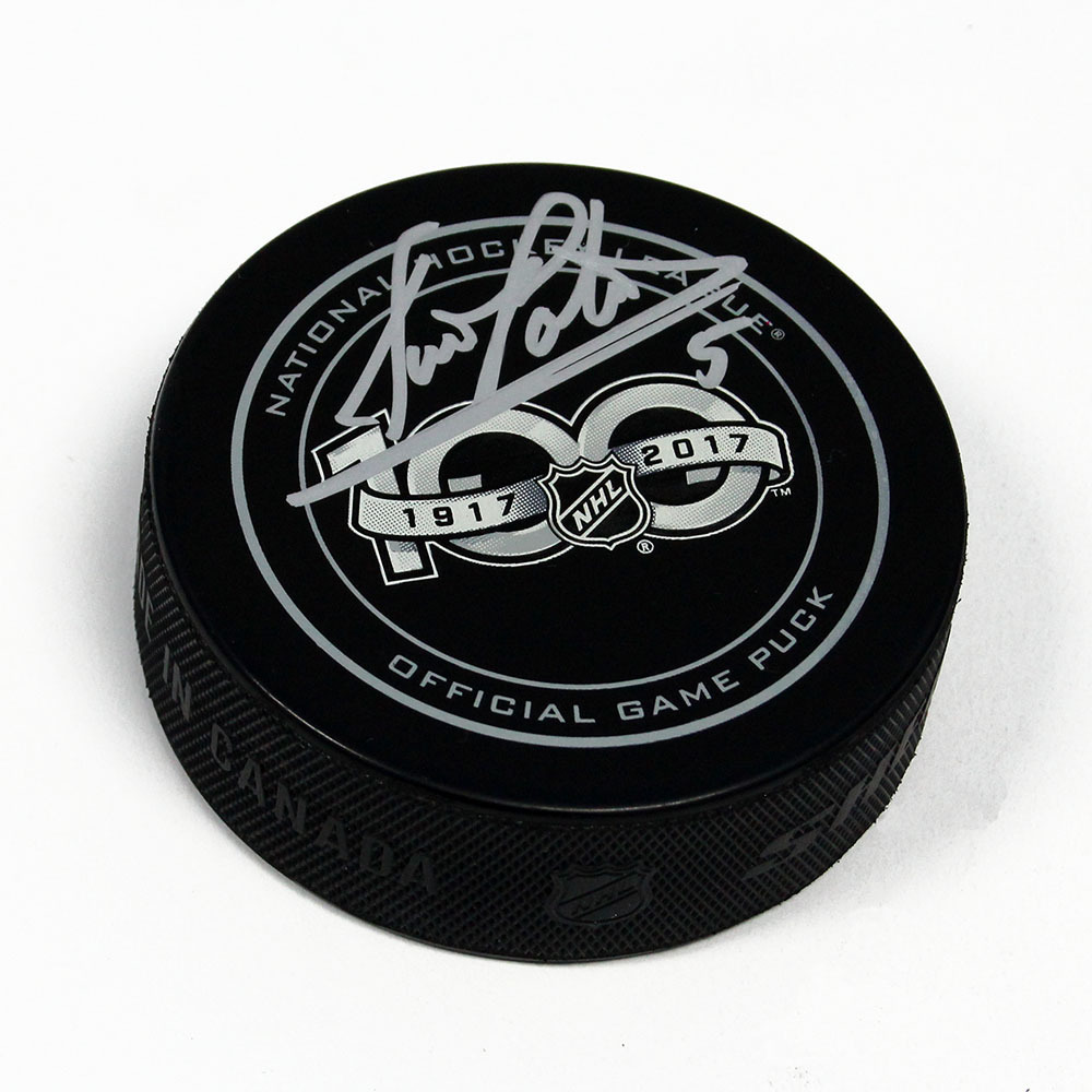 Denis Potvin NHL Centennial Season Autographed 100 Years Official Game Puck *New York Islanders*