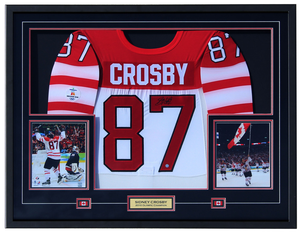 Sidney Crosby - Framed Signed Team Canada Jersey
