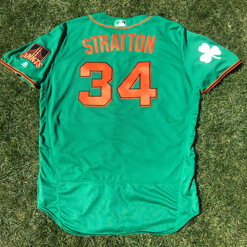 Photo of San Francisco Giants - 2018 St. Patrick's Day - Team Issued Jersey - Chris Stratton