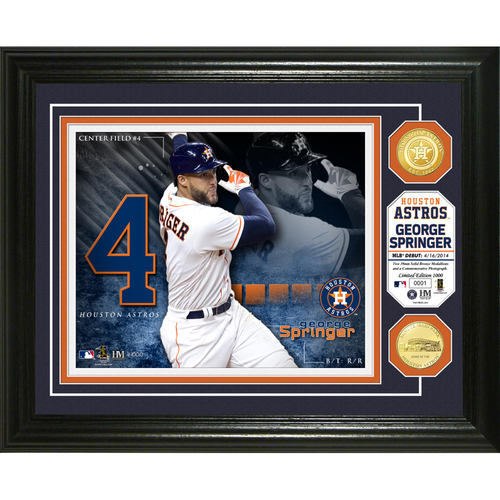 Photo of Serial #1! George Springer Bronze Coin Photo Mint