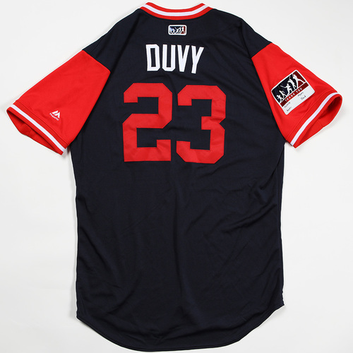 "Photo of Adam ""Duvy"" Duvall Atlanta Braves Game-Used Jersey 2018 Players' Weekend Jersey"