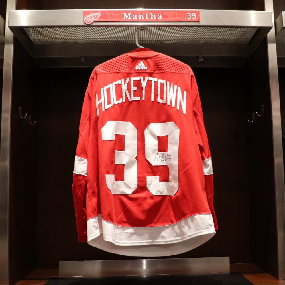 check out 0ff69 a9485 Anthony Mantha (#39)- Red Wings 2018 Home Opener Hockeytown ...