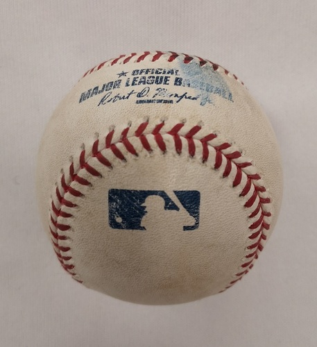 Photo of Authenticated Player Collected Baseball - Home Run (8) by Russell Martin against Collin McHugh (June 7, 2015; Bottom 3).