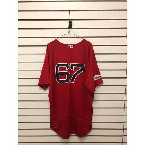Photo of Brandon Workman Game-Used September 29, 2017 Home Alternate Jersey