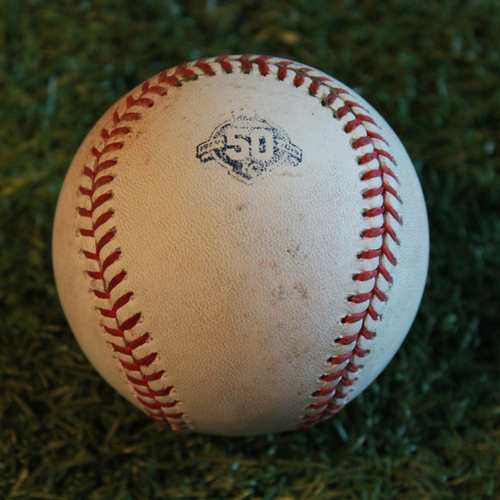 Photo of Game-Used Baseball: Robbie Grossman Career 438th Hit and 186th Career RBI (MIN @ KC - 9/14/18)
