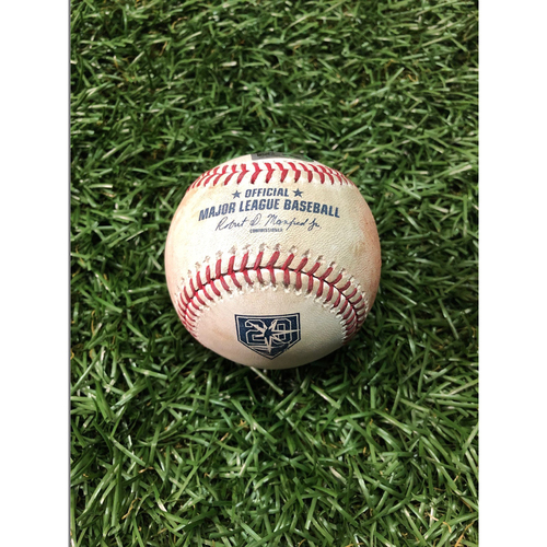20th Anniversary Game Used Baseball: Ryne Stanek strikes out Aaron Judge - September 26, 2018 v NYY