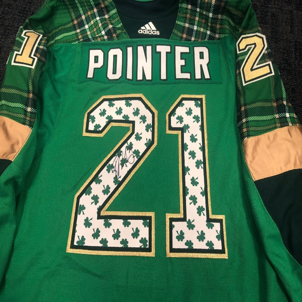 #21 Brayden Point Tampa Bay Lightning Green Warm-Up Nickname Jersey