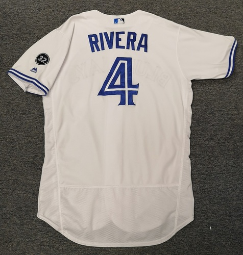 Photo of Authenticated Game Used Jersey - #4 Luis Rivera (May 23, 18). Size 46