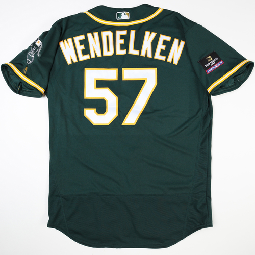 Photo of 2019 Japan Opening Day Series - Game Used Jersey - J.B. Wendelken, Oakland Athletics at Nippon Ham Fighters -3/17/2019