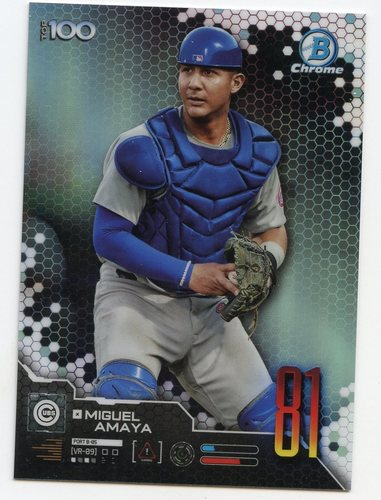 Photo of 2019 Bowman Chrome Scouts Top 100 #BTP81 Miguel Amaya