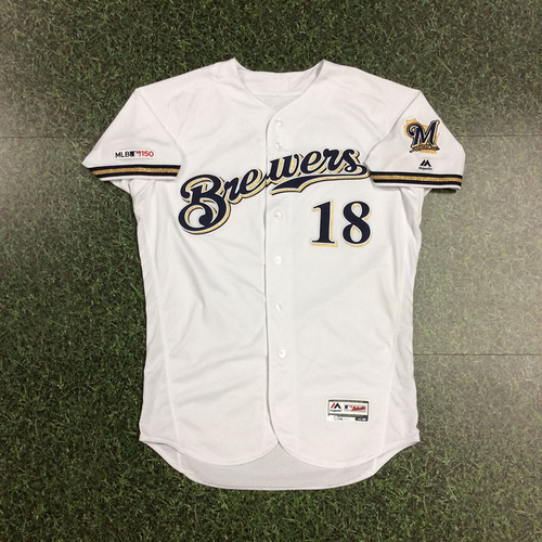 Photo of Keston Hiura 05/21/2019 Home Debut Jersey - 2-4, Two Singles