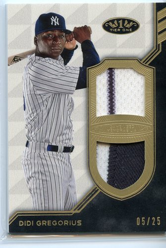 Photo of 2018 Topps Tier One Dual Relics #T1RDG Didi Gregorius 05/25
