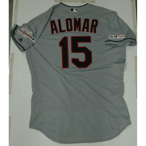 Photo of Sandy Alomar 2019 Team Issued Road Jersey