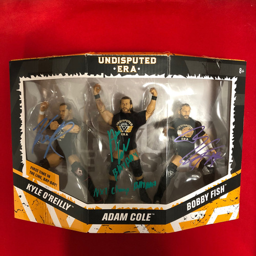 Photo of Undisputed Era SIGNED 3-Pack Action Figure Set