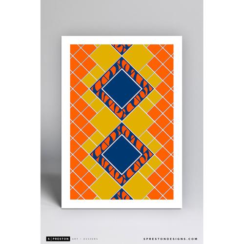 Photo of Comerica Park Pewabic Tile- Minimalist Ballpark Art Print by S. Preston  - Detroit Tigers