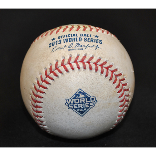 Photo of Game-Used Baseball - 2019 World Series - Washington Nationals vs. Houston Astros - Batter - Jose Altuve, Pitcher - Patrick Corbin - Top 3 - Groundout to 3rd - Game 4 - 10/24/2019