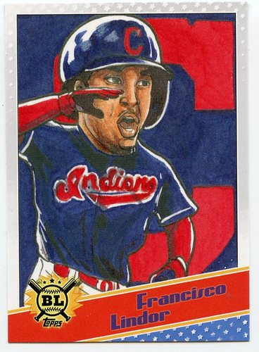 Photo of 2020 Topps Big League Star Caricature Reproductions #SCOFL Francisco Lindor