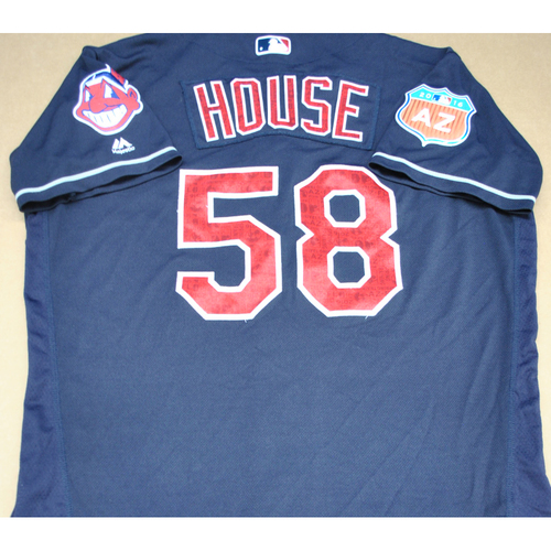 Game-Used 2016 Spring Training Jersey - Tj House - Size 46 - Cleveland Indians
