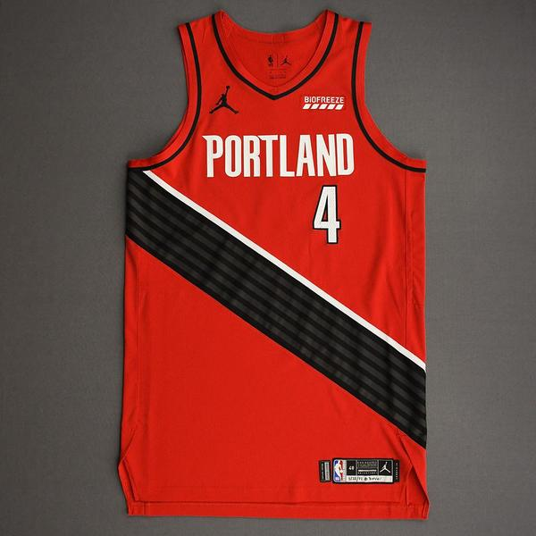 Image of Harry Giles III - Portland Trail Blazers - Game-Worn Statement Edition Jersey - Dressed, Did Not Play (DNP) - 2021 NBA Playoffs