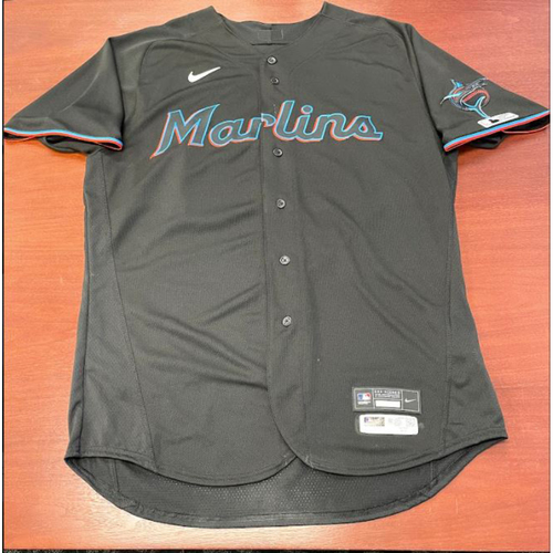 Photo of 2021 Auction: Jesus Aguilar Miami Marlins Debut Game-Used Jersey HR #1 - Miami Marlins vs. Philadelphia Phillies 07/24/20