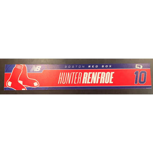 Photo of Hunter Renfroe July 29, 2021 Game Used Locker Tag