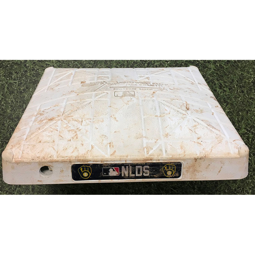 Photo of Game-Used 1st Base ATL@MIL - 10/08/21 (NLDS Game 1) - Innings 1-3