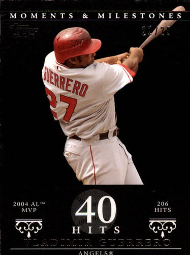 Photo of 2007 Topps Moments and Milestones Black #41-40 Vladimir Guerrero/Hits 40