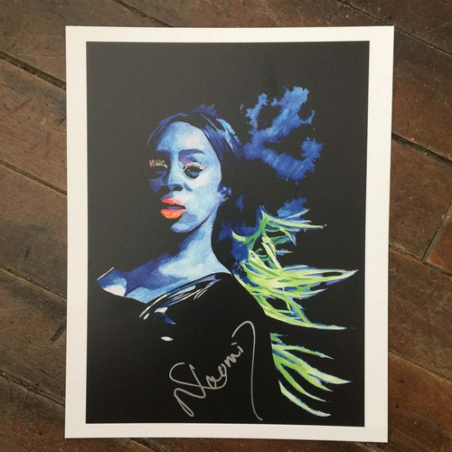Photo of Naomi SIGNED 11 x 14 Rob Schamberger Print