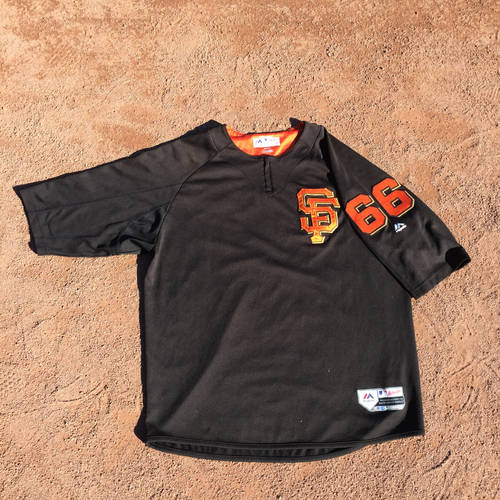 San Francisco Giants - 2017 Game-Used Batting Practice Jersey Worn by #66 Gorkys Hernandez (Size: XL)