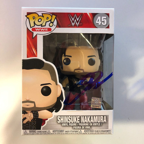 Photo of Shinsuke Nakamura SIGNED POP! Vinyl Figure