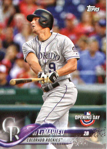 Photo of 2018 Topps Opening Day #162 DJ LeMahieu