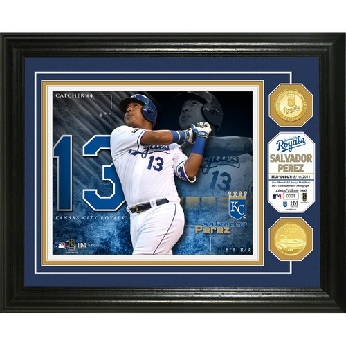 Photo of Serial #1! Salvador Perez Bronze Coin Photo Mint