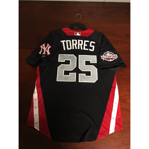 Photo of Gleyber Torres 2018 Major League Baseball Workout Day Autographed Jersey