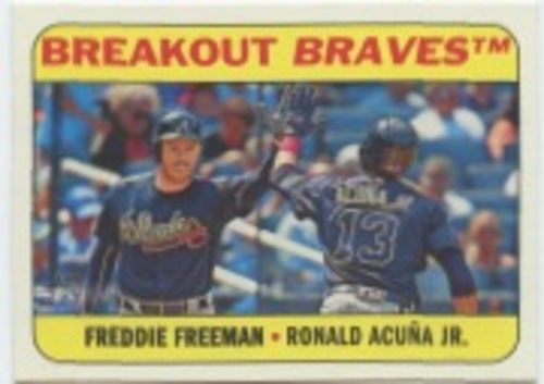 Photo of 2018 Topps Heritage Combo Cards #CC8 Ronald Acuna Jr./Freddie Freeman
